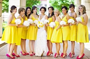 vestidos amarelos para madrinhas de casamento 1