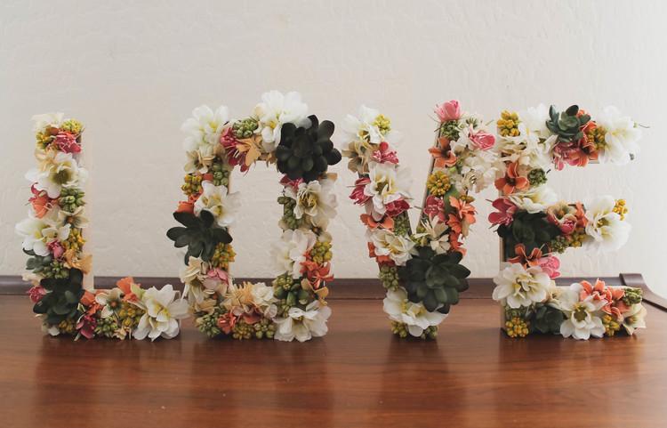 Letras de papel o 3d diy amanh esposa for Letras gigantes para bodas baratas
